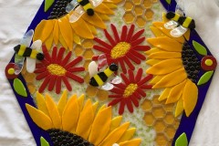 "10-172 Lucy McCarty - Twin Falls, ID Category – Glass Save the Bees 18"" x 19"""