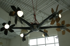 10-098 Darrell Tousley - Lehi, UT Category – Sculpture, Over 3ft A Blending Glance 8 ft w x 3.5 ft t Hangs from ceiling.