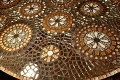 "10-069 Sharon Higby - Twin Falls, ID Category – Uncategorized Beautifully Broken 49"" W x 29"" H mosaic table"