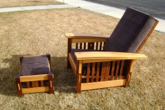 "10-151 Kevin Gepner - Twin Falls, ID Category – Woodwork Morris chair & ottoman chair 36"" x 40"" ottoman 12"" x 12"""